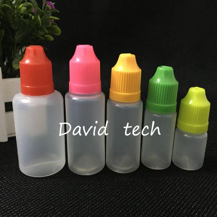 bottiglie goccia PE E cig a prova di bambino bottiglia ago con tappi a prova di bambino 30ml bottiglie vuote E liuid e succo di frutta