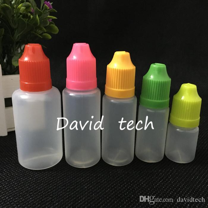 Trasporto veloce PE plastica contagocce e-cig bottiglia di olio 30ml Con Childproof Cap la sigaretta elettronica eGo bottiglia vuota
