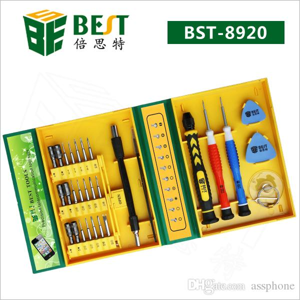 Haute Qualité BST-8920 Tournevis MEILLEUR 30 en 1 tournevis Set tournevis outils de réparation de téléphone pour téléphone portable avec livraison gratuite