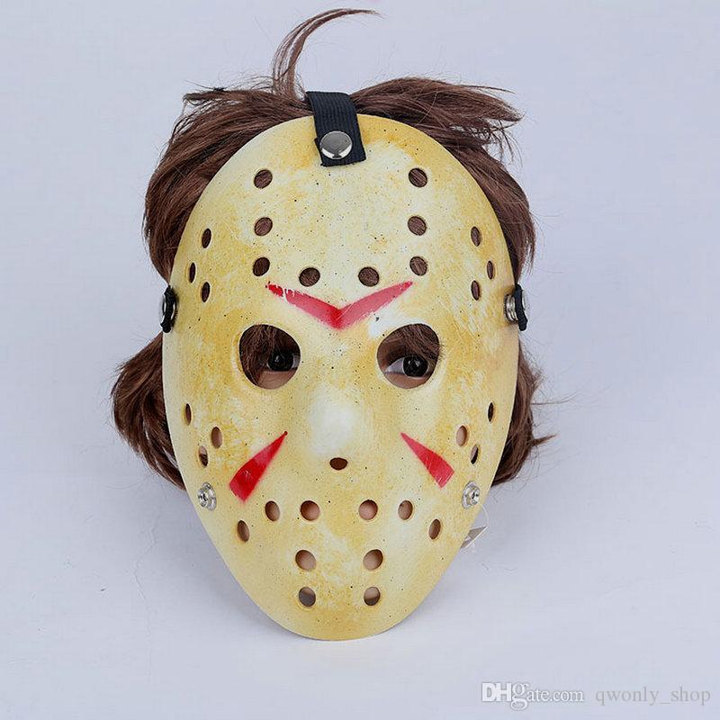 Máscaras de festa de ouro branco Vintage Delicated Jason Voorhees Freddy festival de hóquei masquerade Halloween máscara frete grátis