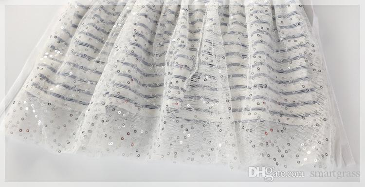 Robe de petite fille à rayures mignonnes en ligne Shopping Coton Tulle Tulle Longueur de la longueur d'automne Printemps 2021 Robes à manches longues 17090602