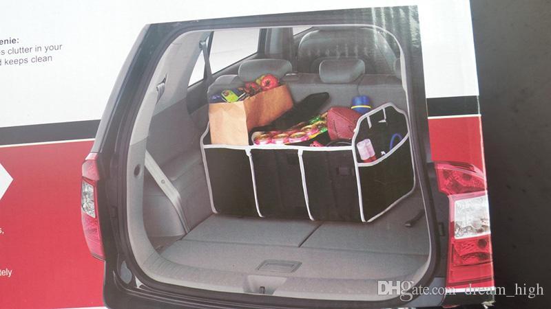 Car Truck Van SUV Cesta De Armazenamento Carro Organizador de Inicialização de Carro Coisas de Alimentos Automóvel Estocando Tidying Sacos de Dobramento