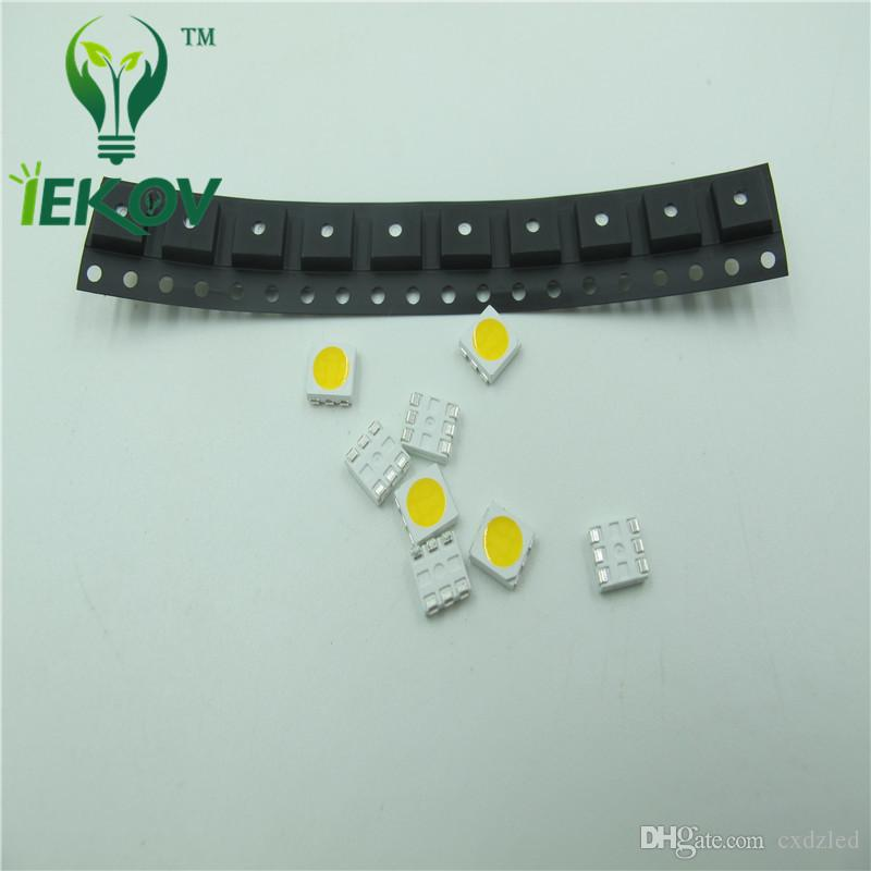5050 PLCC-6 Green LED SMD highlight light-emitting diodes 3.0-3.2V High quality SMD/SMT Chip lamp beads Wholesale