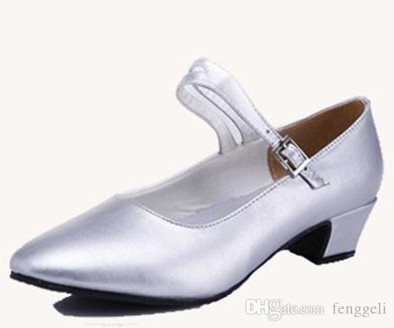 새로운 여성 신발 플라자 볼룸 댄스 신발 소 가죽 부드러운 단독 재즈 댄스 신발 2016 봄과 여름 특별 제공