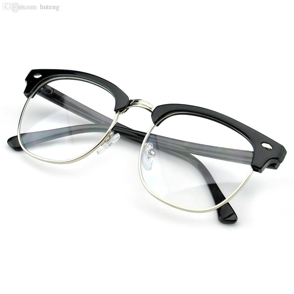 0e6d99ab68b 2019 HOT SALE PenSee Vintage Inspired Classic Half Frame Horn Rimmed Clear  Lens Glasses Eyeglasses Frames From Hdqstore