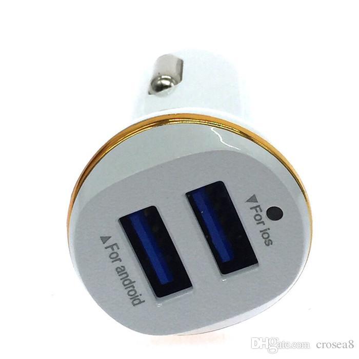 Neue angekommene Dual Port 2 USB Auto Ladegerät Mini Universal Schnelle Smart Auto-Ladegerät Reise Ladegerät Adapter für iPhone huawei Smartphone
