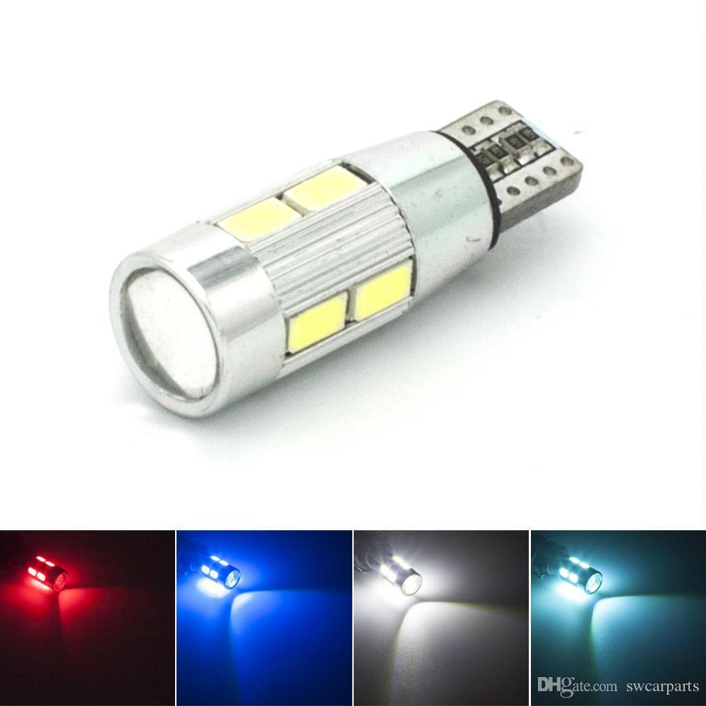 Lights & Lighting High Quality Car Auto Led T10 194 W5w Canbus 10 Smd 5630 5730 Led Light Bulb