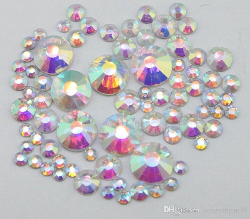 Super Shiny SS3-SS40 Crystal Swarovski AB Glass Nail Art Rainbow ...