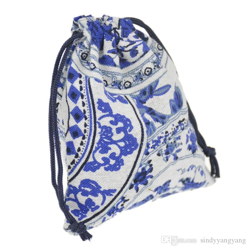 JLB Drawstring Jewelry Pouches bag Egypt and India Mysterious Style Colorful Cotton gift package bag 9.5x11.5cm