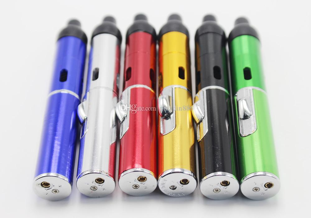 "In stock Click N Burn ""Lighter"" Pen Herbal Vaporizer Smoking Pipe Touch Flame Lighter with Built-in Wind Proof Torch Light Click N Vape"