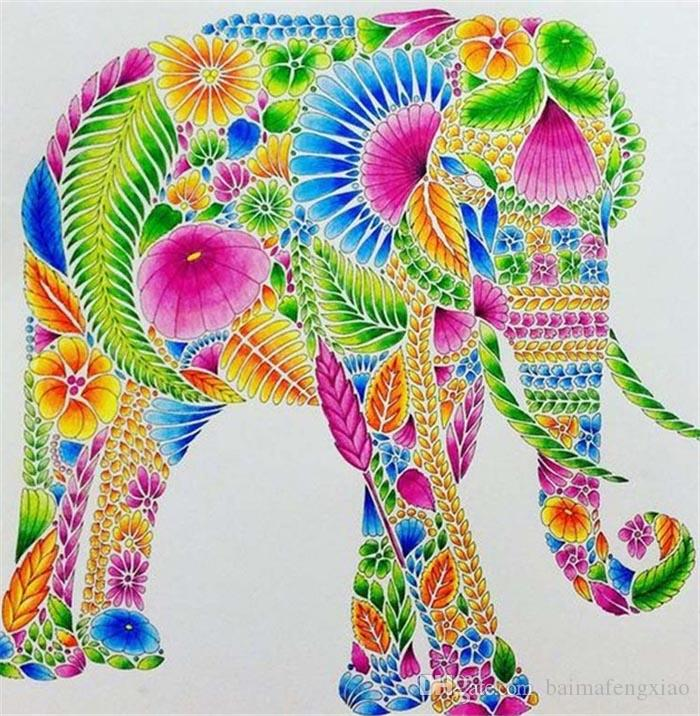 6e10738fb9 New Diy Diamond Painting Cross Stitch Kits Resin Pasted Painting Full Round  Drill Needlework Mosaic Home Decor Animal Elephant Yx0016 Canada 2019 From  ...