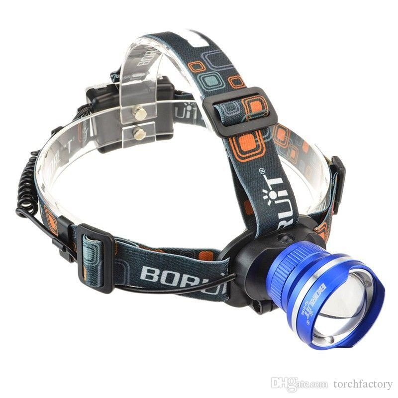 Boruit Waterproof 2000 Lumen CREE XM-L T6 LED Headlight Headlamp Zoomable Head Lamp Flashlight Lantern 5 Mode