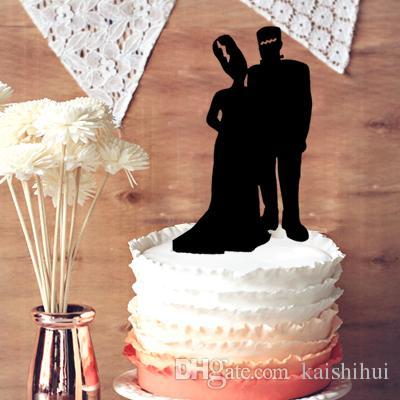 2018 Unique Wedding Cake Topper Halloween Frankenstein Couple ...