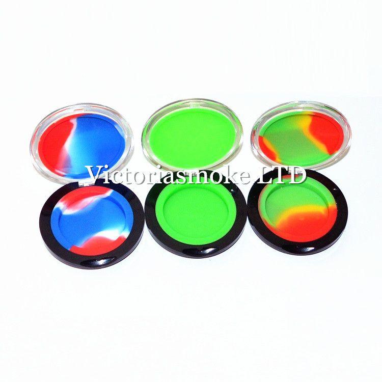 Recipientes de silicona de maquillaje Recuadro Forma Contenedores de cera Caja de silicona Contenedor de silicona 6 ml Frascos de cera de calidad alimentaria Contenedor de silicona