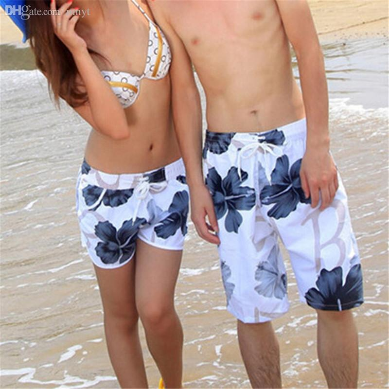a578a9ec58 2019 Wholesale Lovers Couple Flower Short Pants Womens Mens Beach Surf  Board Shorts Fashion Design Summer 2016 From Mnyt, $22.21 | DHgate.Com