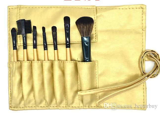 New Hot Makeup Brushes Sets Wood Handle Multi-Functional Black Brushes Kits Makeup Tools with Black PU Bag Discount Price