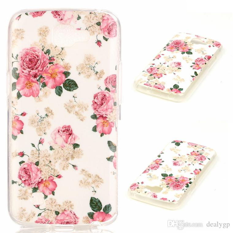 Fashionable Floral Painting Ultra Thin TPU Cell Phone Case Skin Cover Cases for Huawei p9 Factory Price