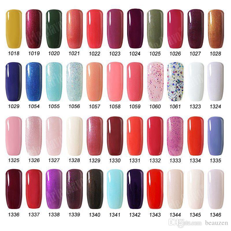 IDO Gelish Soak Off Nail Art UV LED Gel Nail Polish es Base cosmética Top Coat Manicure Set