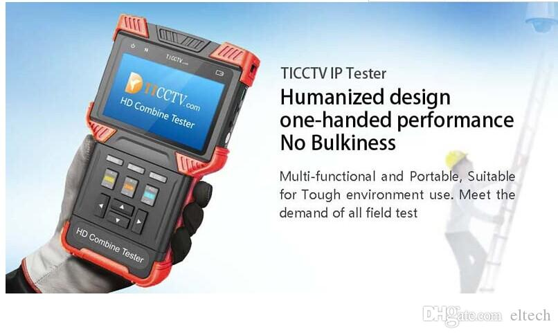 4.0 Inch HD Combine Tester IP Camera CCTV Tester Support Analog + AHD+ TVI + IPC With POE TDR Test