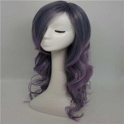 Qualität alle Perücke weibliche neue Art und Weise Anime, langes lockiges lockiges lockiges Haar, Spitze, vordere Perücke, hitzebeständiges synthetisches Haar für Partei-Spielen