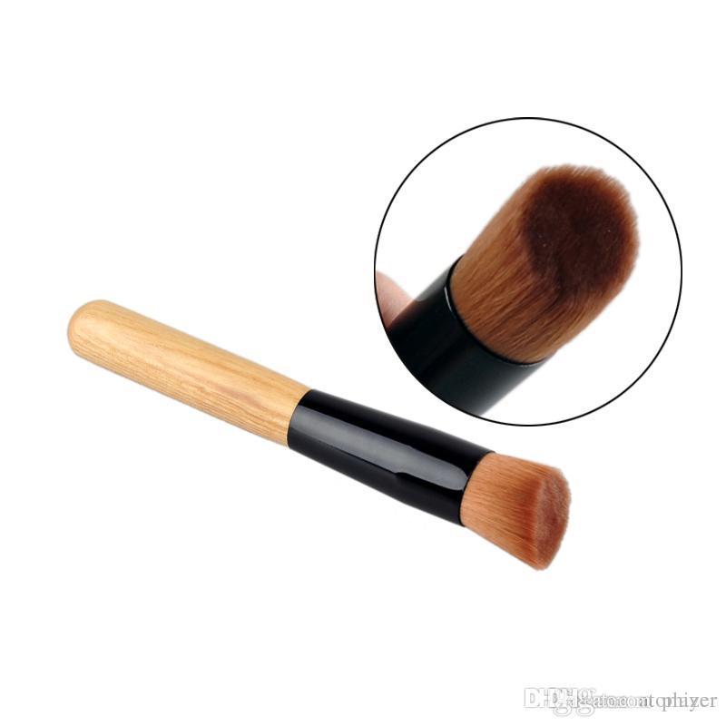 Multi-Function Pro Makeup Brushes Powder Concealer Blush Liquid Foundation Make up Brush Set Wooden Kabuki Brush Cosmetics DHL