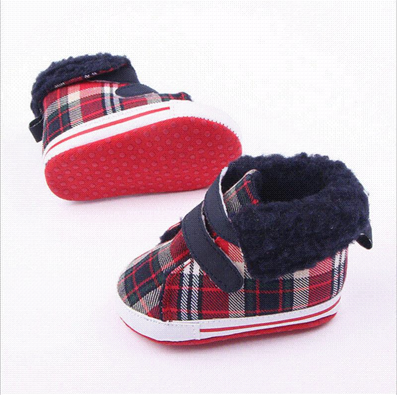 Winter Baby Girls Bowknot Soft Sole Crib Shoes Warm Boots Shoes Pre-walker Shoes
