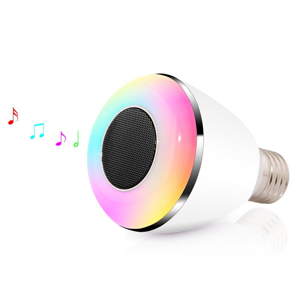 High Quality Wireless E27 Led Rgb Bluetooth Speaker Bulb Light Lamp Music Playing & Rgb Smart Lighting With Remote Control
