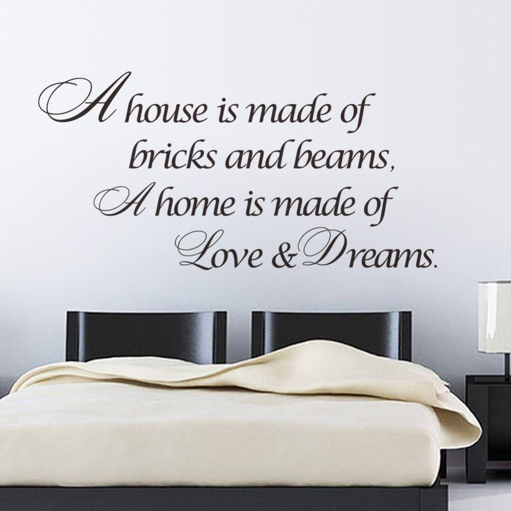Home Is Love Dreams Home Decor Quote Sticker Poster Vinyl