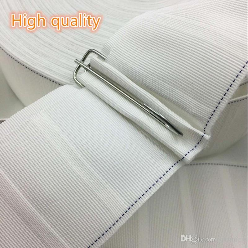 커튼 후크 천으로 테이프 커튼 액세서리 흰색 리본 테이프 짙어지면서 암호화 커튼 테이프 10m