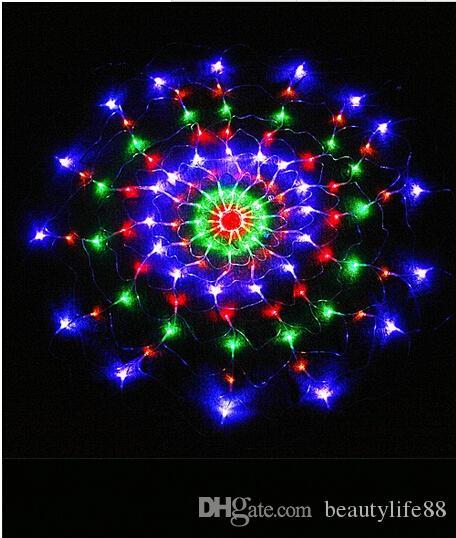 1.2 م 120leds 8 أوضاع فلاش 220 فولت / 110 فولت الملونة rgb led net سلسلة ضوء عيد الميلاد حفل زفاف أضواء شحن مجاني