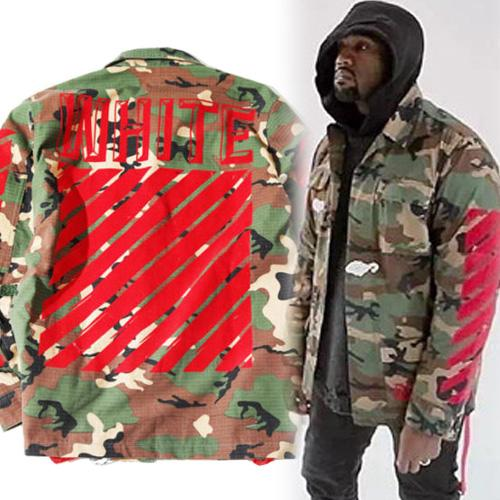 3b0a02100741 2016AW High Quaity Hip Hop OFF WHITE Camouflage Jacket Coats For Men And  Women The Same With Kanye West And Justin Bieber Black Leather Bomber Jacket  Mens ...