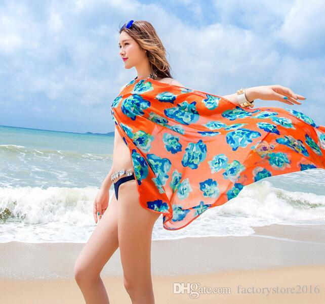 Robe de plage en mousseline de soie blouse wrap bikini bohème couvrir jusqu'à sarong bretelles jupe protection solaire châle dos maillots de bain