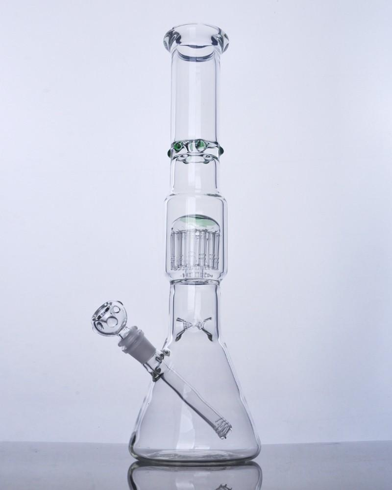 Hot Sale Real Photo Arm Baum Inline Perc Glass Bongs mit Diffusor downstem Glas Wasser-Rohre 18mm weiblich Joint