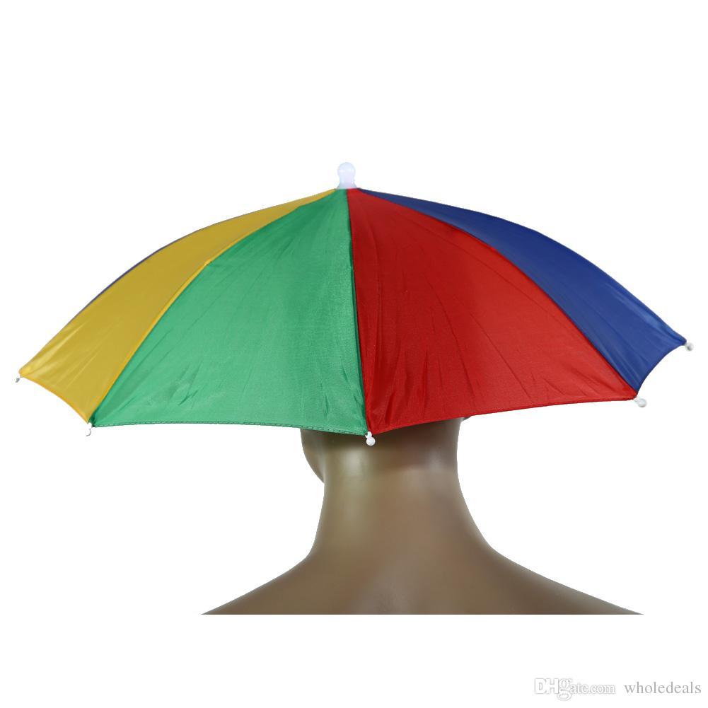 뜨거운 판매 접는 우산 모자 일 우산 태양 그늘 캠핑 낚시 하이킹 축제 야외 Brolly 새로운