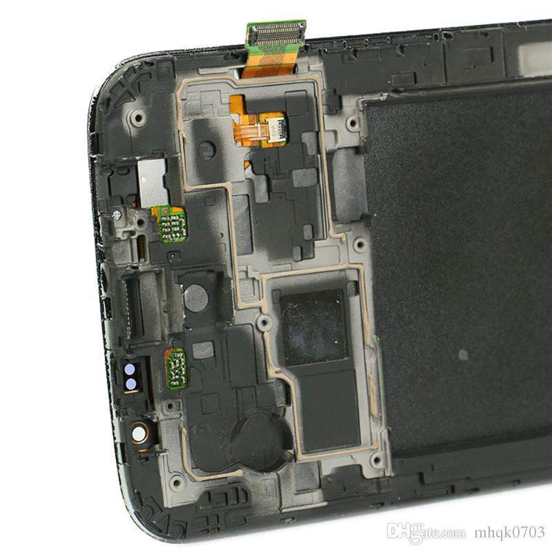 디지타이저 + 베젤 프레임 수리 부품과 삼성 갤럭시 메가 6.3 i9200 i9205 LCD 디스플레이 터치 스크린 도매