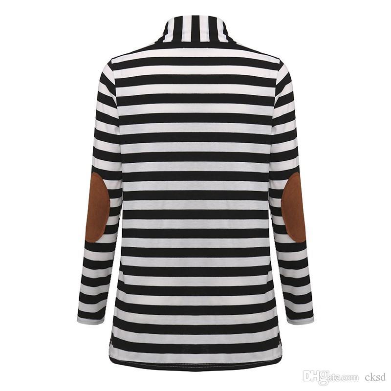 2017 мода свитера женщина кардиган повседневная полосатая женщина осень стили одежда с длинным рукавом хлопок свитера NWY01 РФ