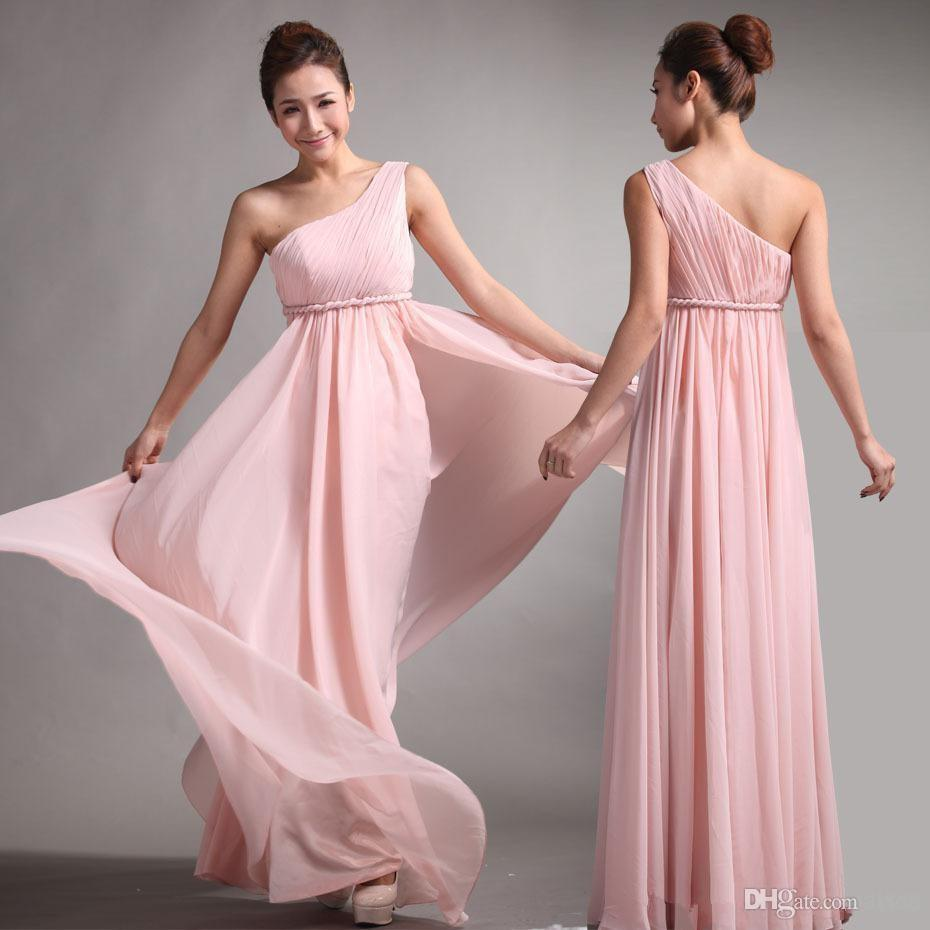 Long bridesmaid dress 2016 chiffon bridesmaid dress 2017 sweet long bridesmaid dress 2016 chiffon bridesmaid dress 2017 sweet princess greek style goddess pink party gown pleat prom vestido children bridesmaid dresses ombrellifo Images