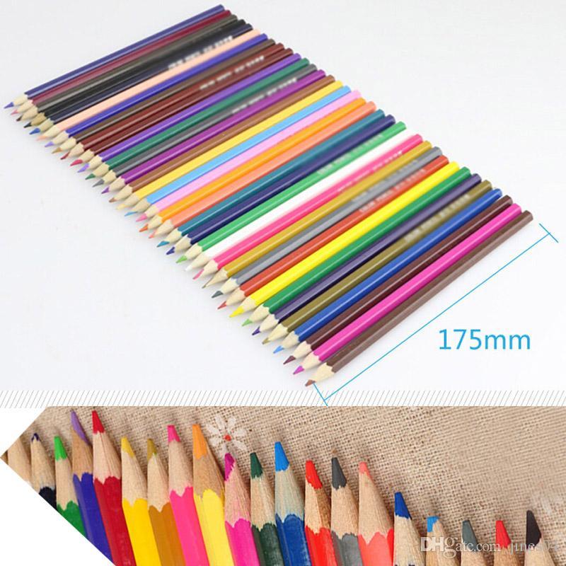 36 шт. / компл. деревянные цветные карандаши для рисования написание эскиза живопись граффити дети школьные принадлежности подарок канцелярские принадлежности 36 цветов в 1 коробке
