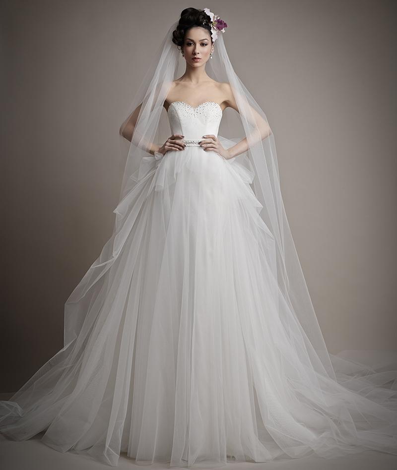 Новый Бренд Дизайнер Свадебное Платье Белая Органза С Бисером Zip Обратно Милая Хорошее Качество Мода Свадебные Платья
