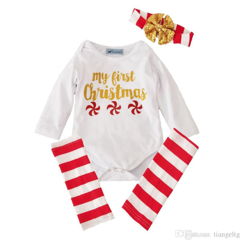 fe1319c74f1 2019 New Kids Clothing Sets Christmas Jumpsuits Winter Autumn Spring Long  Sleeve Baby Casual Suits Infant Rompers 0 24M From Tiangeltg
