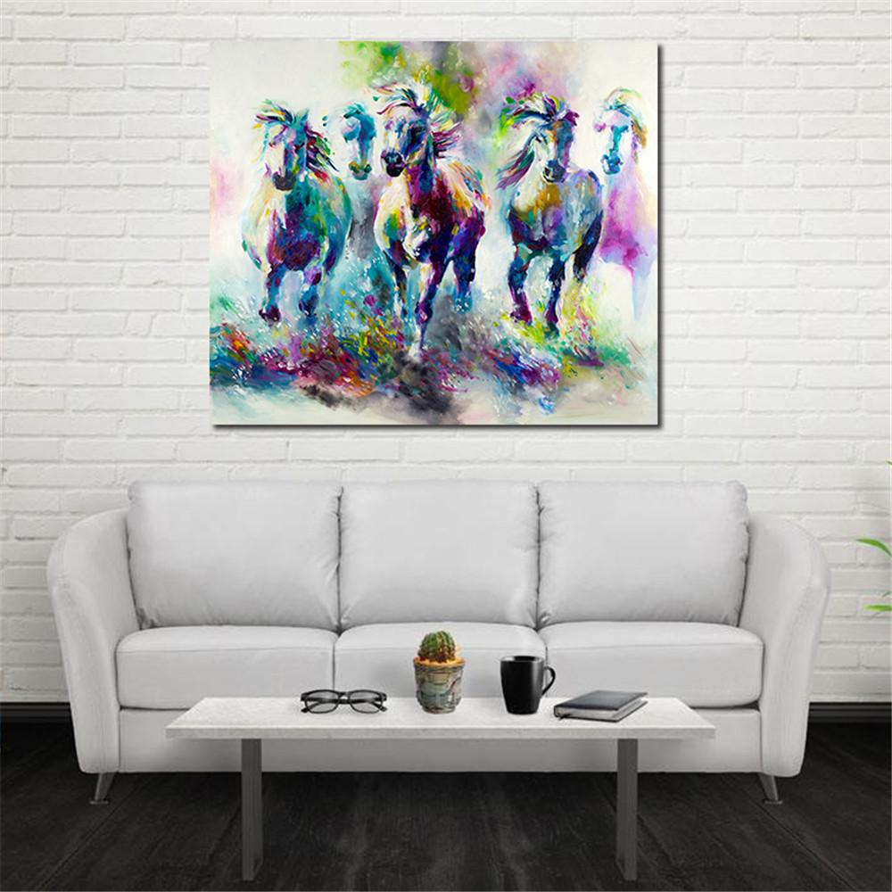 2018 Hand Painted Modern Style Abstract Animals Painted Horse Oil ...