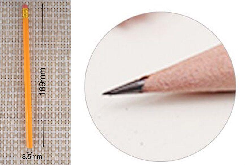 Standard HB Pencils with Eraser Wooden Pencil Writing Supplies School Office Supplies Children Kid Writing Pens Papelaria