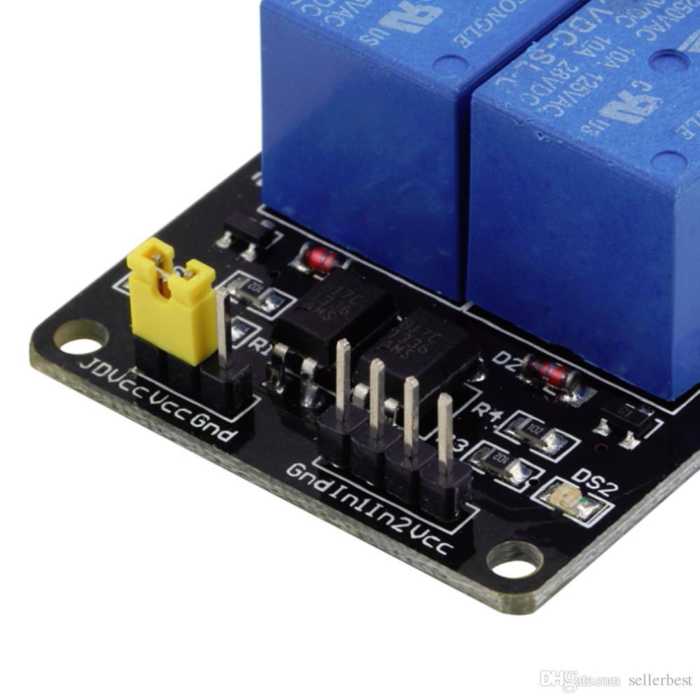 Schermo relè a 5 canali 2 canali con optoaccoppiatore Arduino ARM PIC PLC AVR DSP MCU SCM Singlechip elettronico
