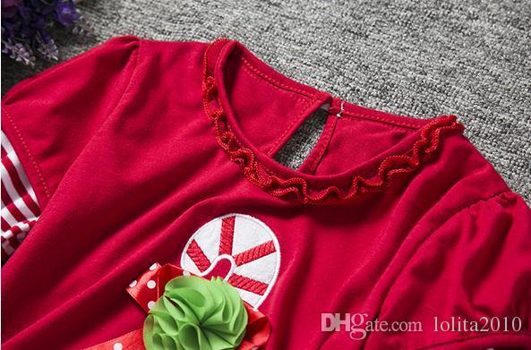 2016 gilrs noël / set costumes automne filles voile Tutu tops T-shirts robe + filles trompette pantalon pantalon filles robe ensemble vêtements pour enfants