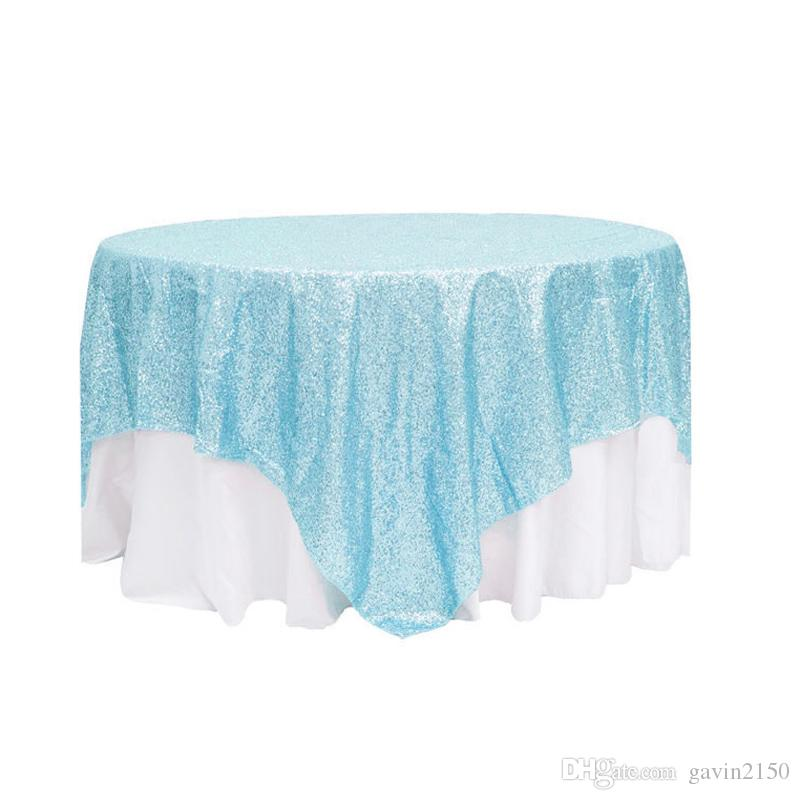 Square Gold Silver Sequin TableCloth For Wedding Decoration Beautiful Sequin Table Overlay For Home Decoration