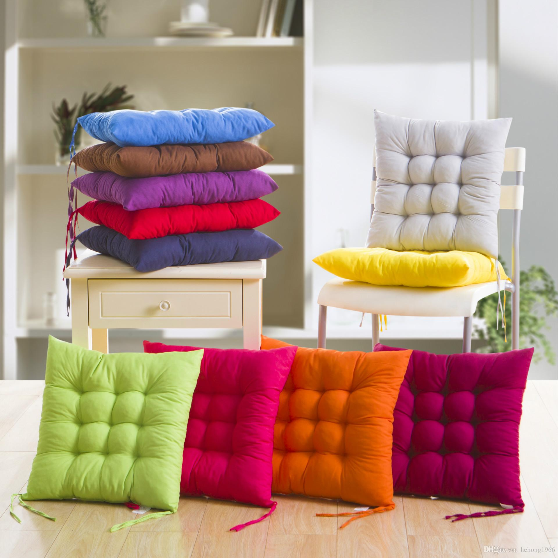Soft Cushion Home Office Sofa Chair Tatami Cushions Binding Strap Design Solid Color Pillow In Autumn And Winter 4pj F R
