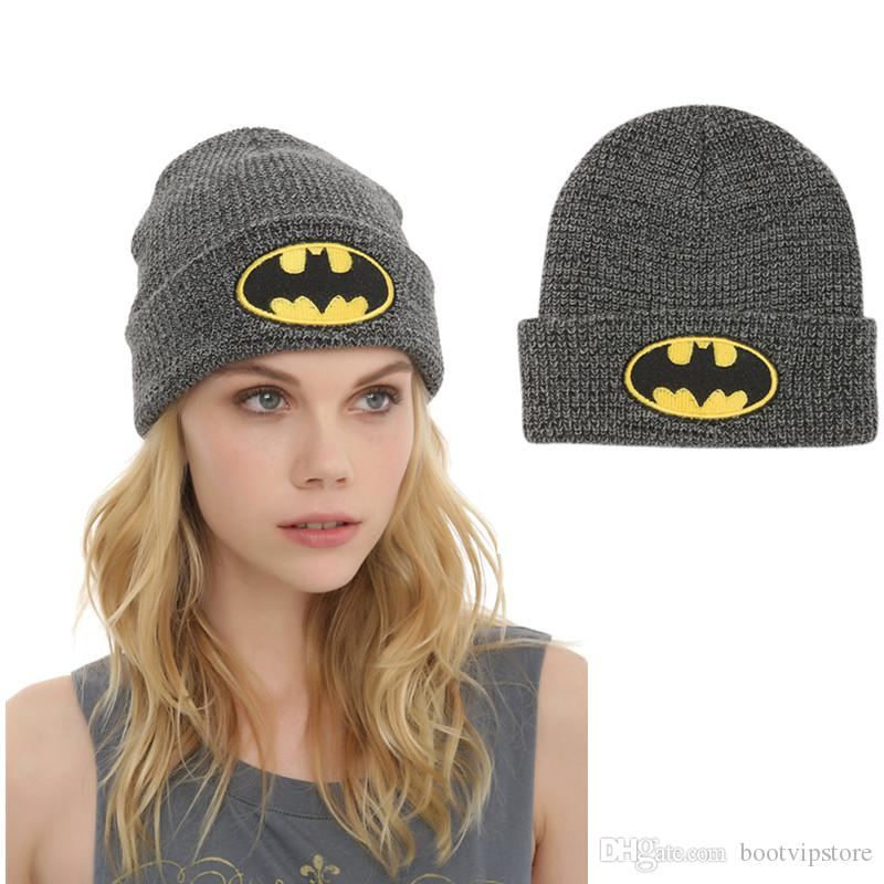 2016 BAT MAN Hats Hip Hop Unisex Beanies Superhero Beanies For Men S Women S  Autumn Winter Knit Cotton Wool Hats Canada 2019 From Bootvipstore 8c5c5805c5f