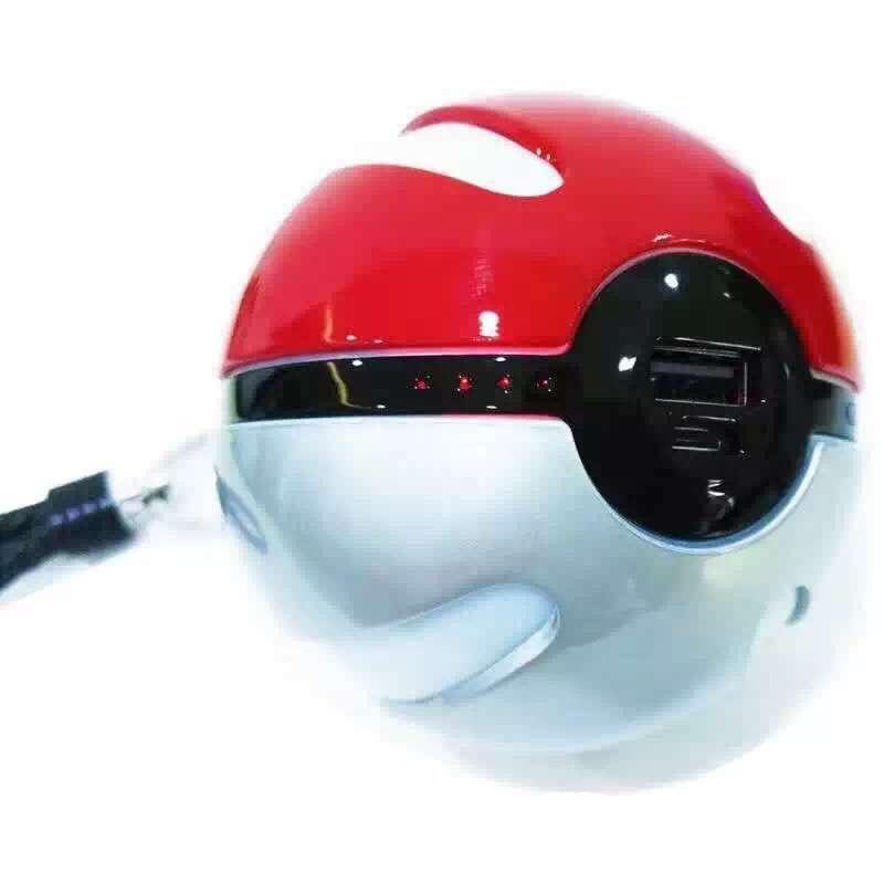HOT Poke power bank 10000 mAh for Poke AR game powerbank with Poke ball LED light portable charge figure toys OTH278