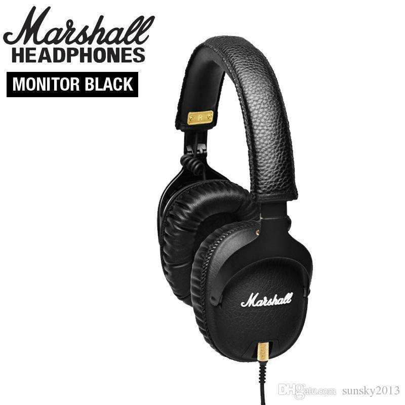 Marshall Monitor Auriculares con Micrófono Deportes Auriculares Estéreo Hifi Auriculares para DJ Puede Cambiar Line Ladle M-ACCS-00152 Cancelación de Ruido