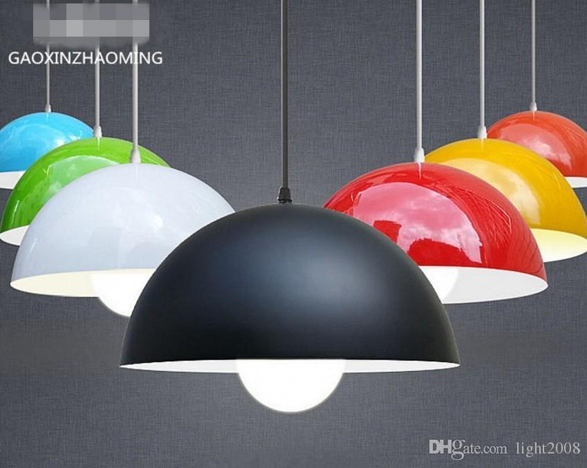 30 cm Moderne mode einfachen einzigen kopf E27 chromatische droplight kreative halbkreis stil droplight restaurant sitzbeleuchtung chandeliht
